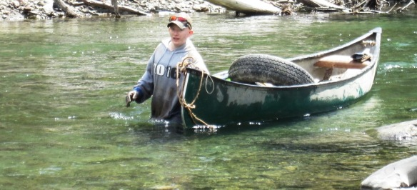 Randolph Union High School Rotary Interact Student - Collecting River Trash