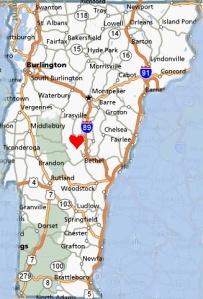 Heart of VT Map